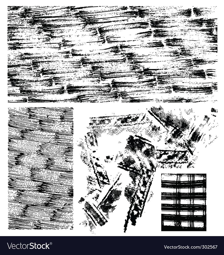 Grunge texture set vector | Price: 1 Credit (USD $1)