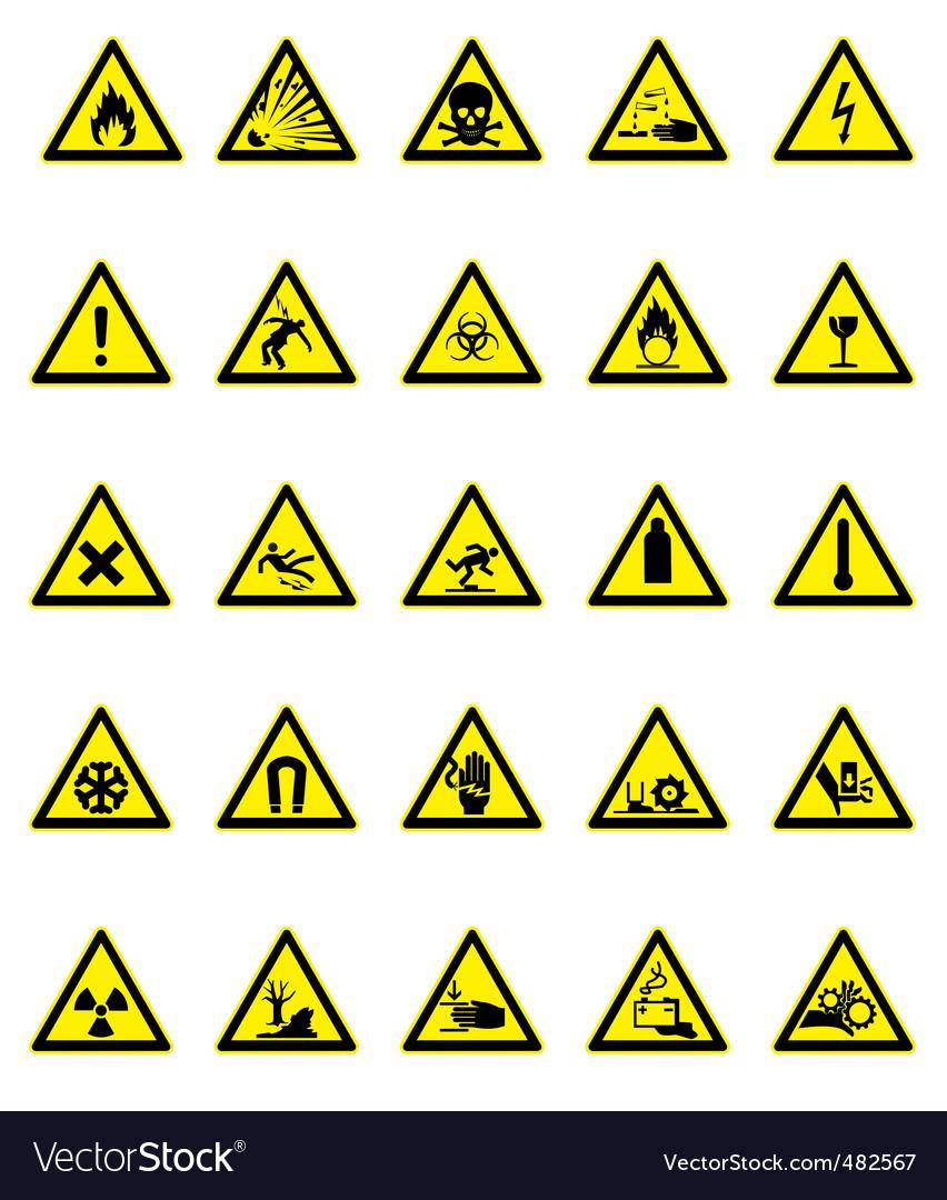 Hazard icon set vector   Price: 1 Credit (USD $1)