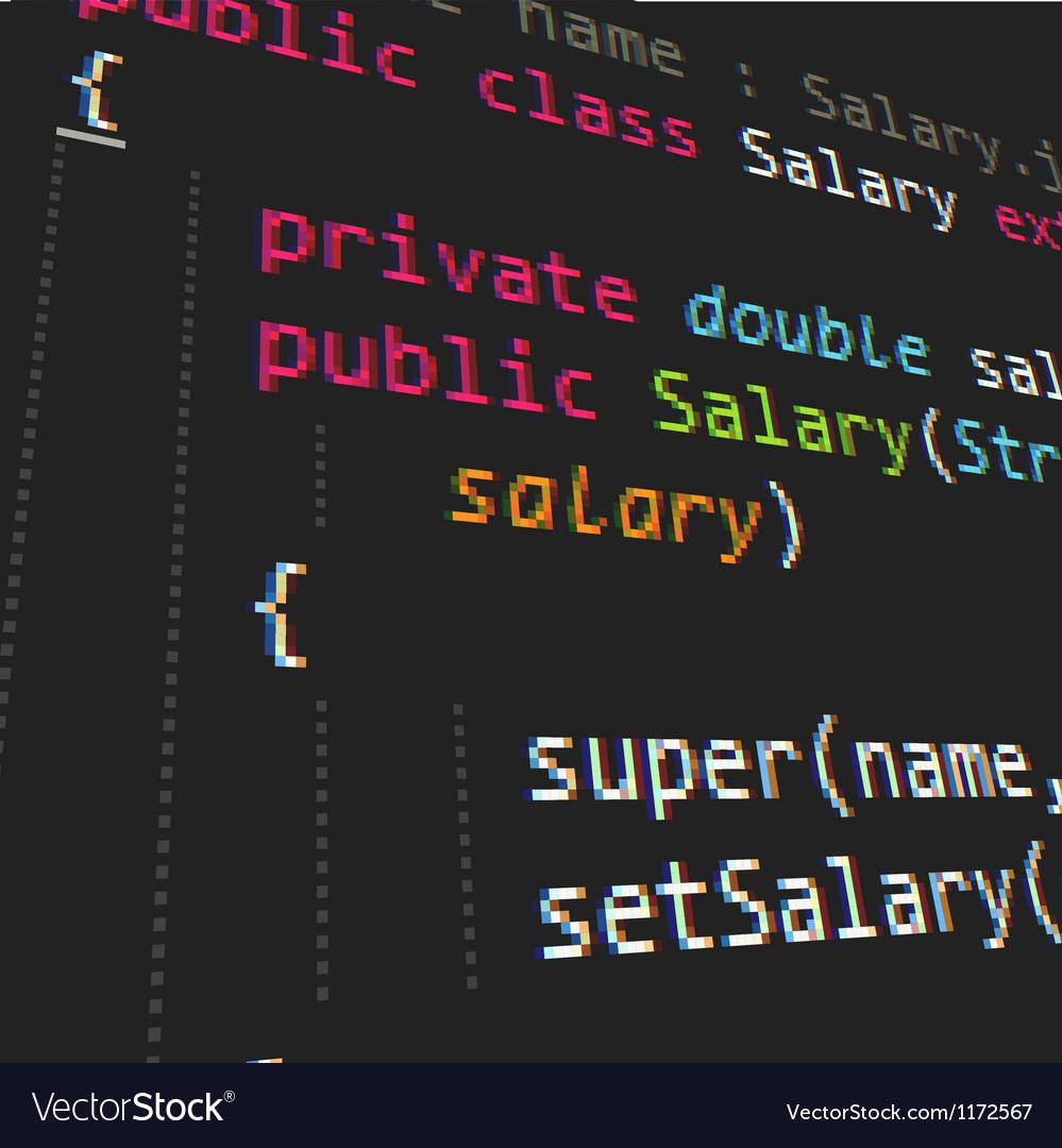 Java programing code on dark background vector   Price: 1 Credit (USD $1)