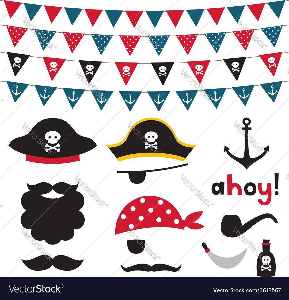 Pirate design element vector | Price: 1 Credit (USD $1)