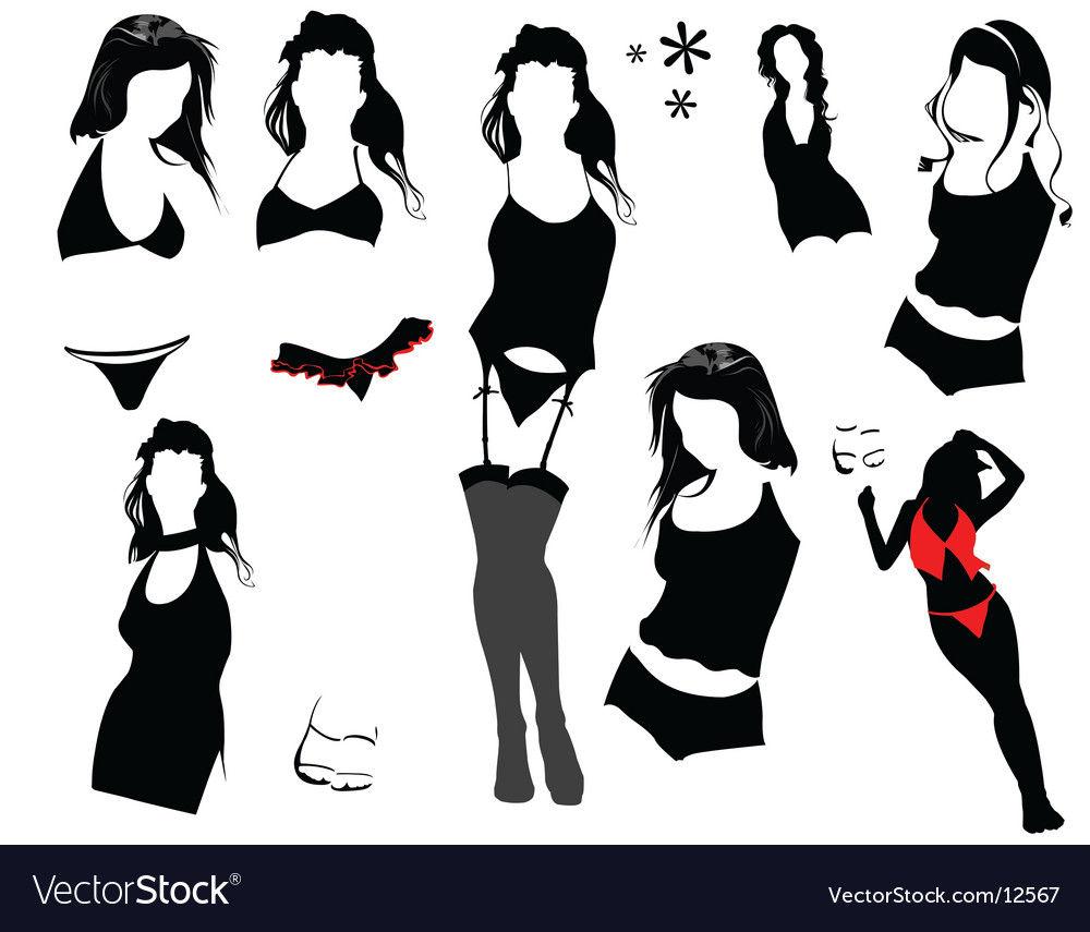 Sexy woman elements vector | Price: 1 Credit (USD $1)
