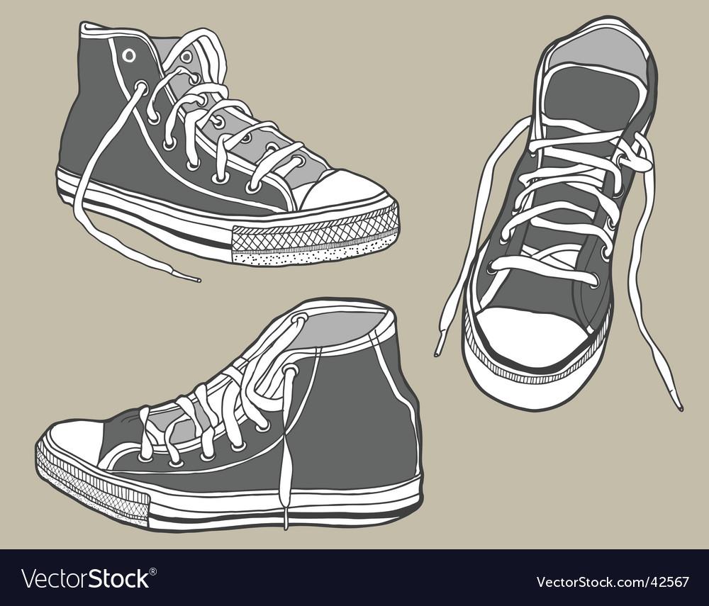 Shoe sketch vector | Price: 1 Credit (USD $1)