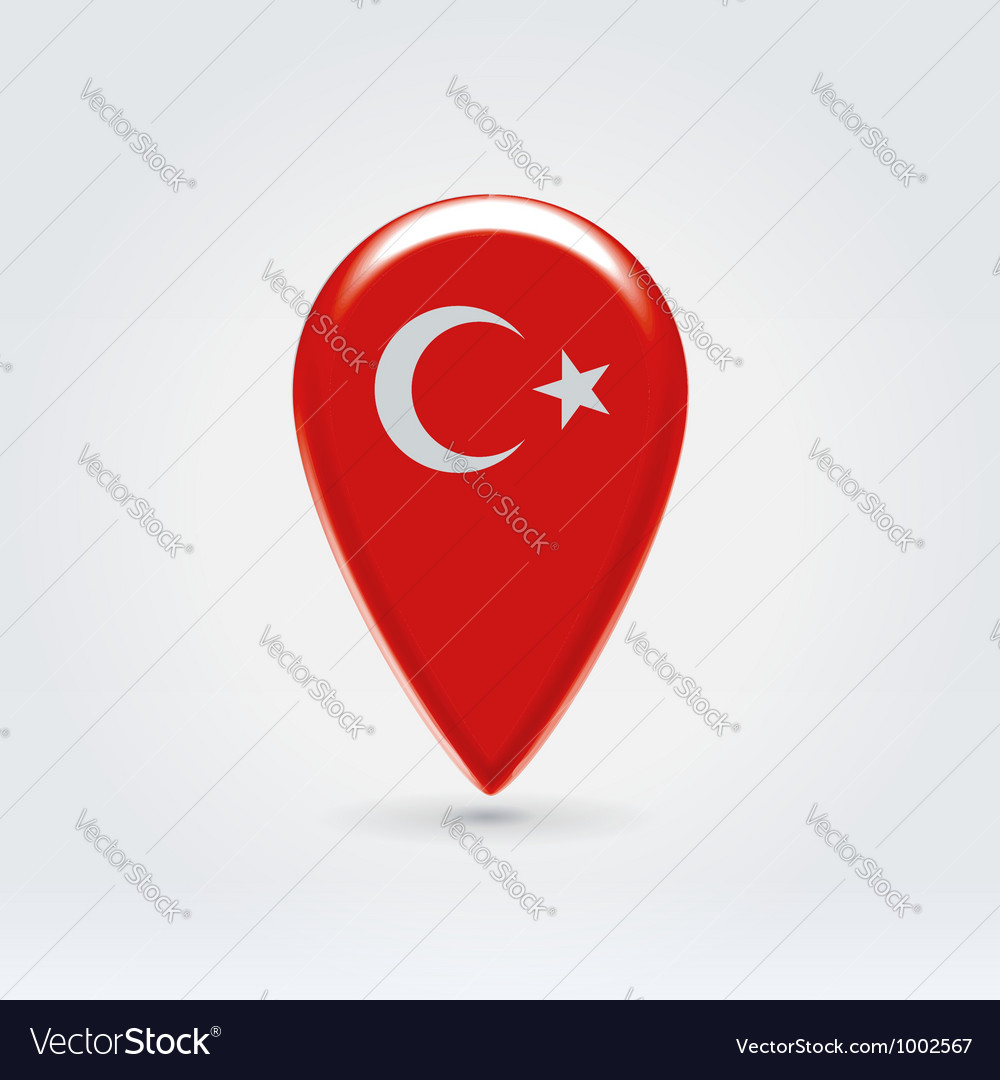 Turkey icon point for map vector | Price: 1 Credit (USD $1)