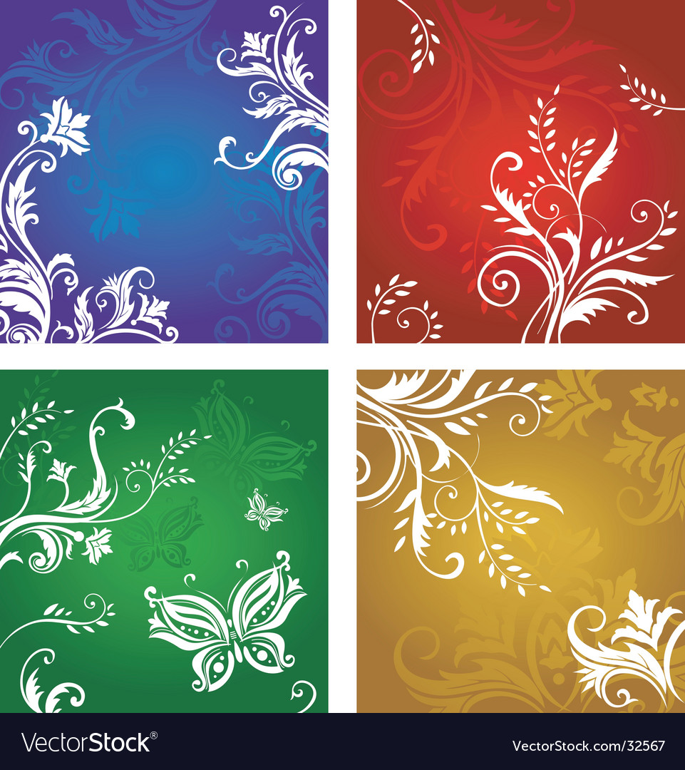 Vegetative and flower ornament vector | Price: 1 Credit (USD $1)