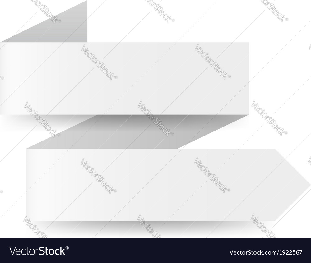 White paper arrow vector | Price: 1 Credit (USD $1)