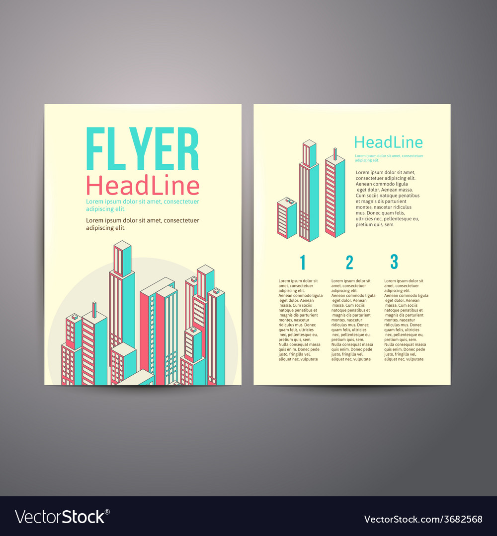 Abstract brochure flyer design about hous vector | Price: 1 Credit (USD $1)