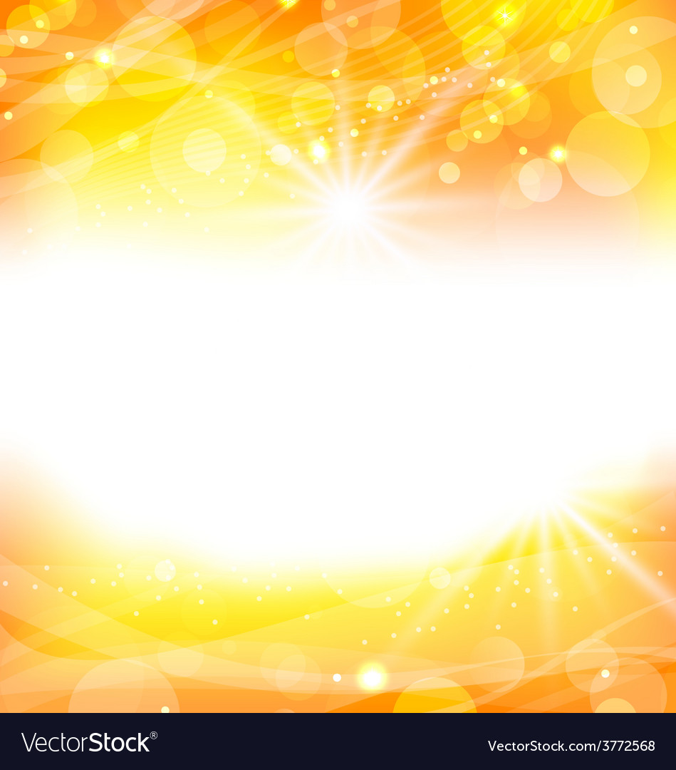 Abstract orange background with sun light rays - vector | Price: 1 Credit (USD $1)