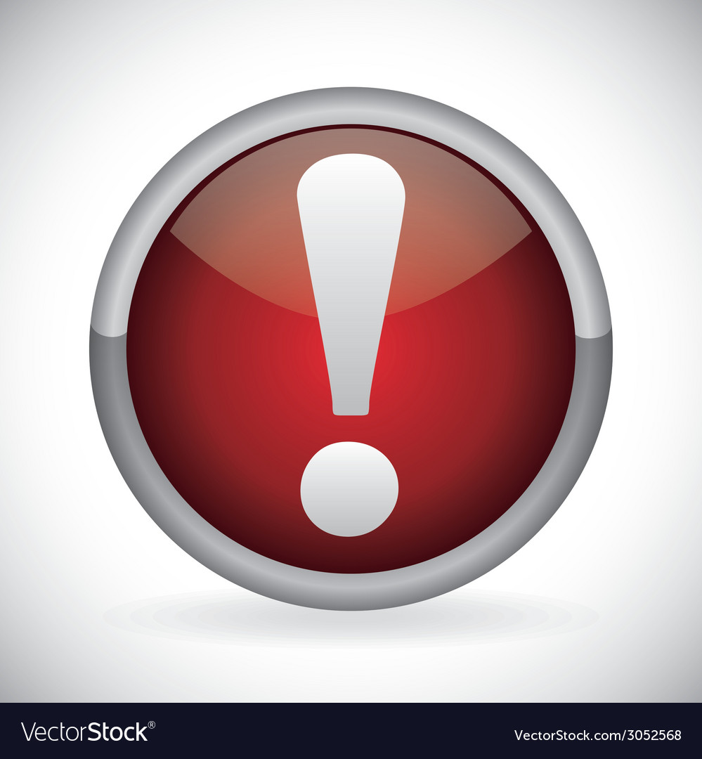 Alert symbol design vector | Price: 1 Credit (USD $1)