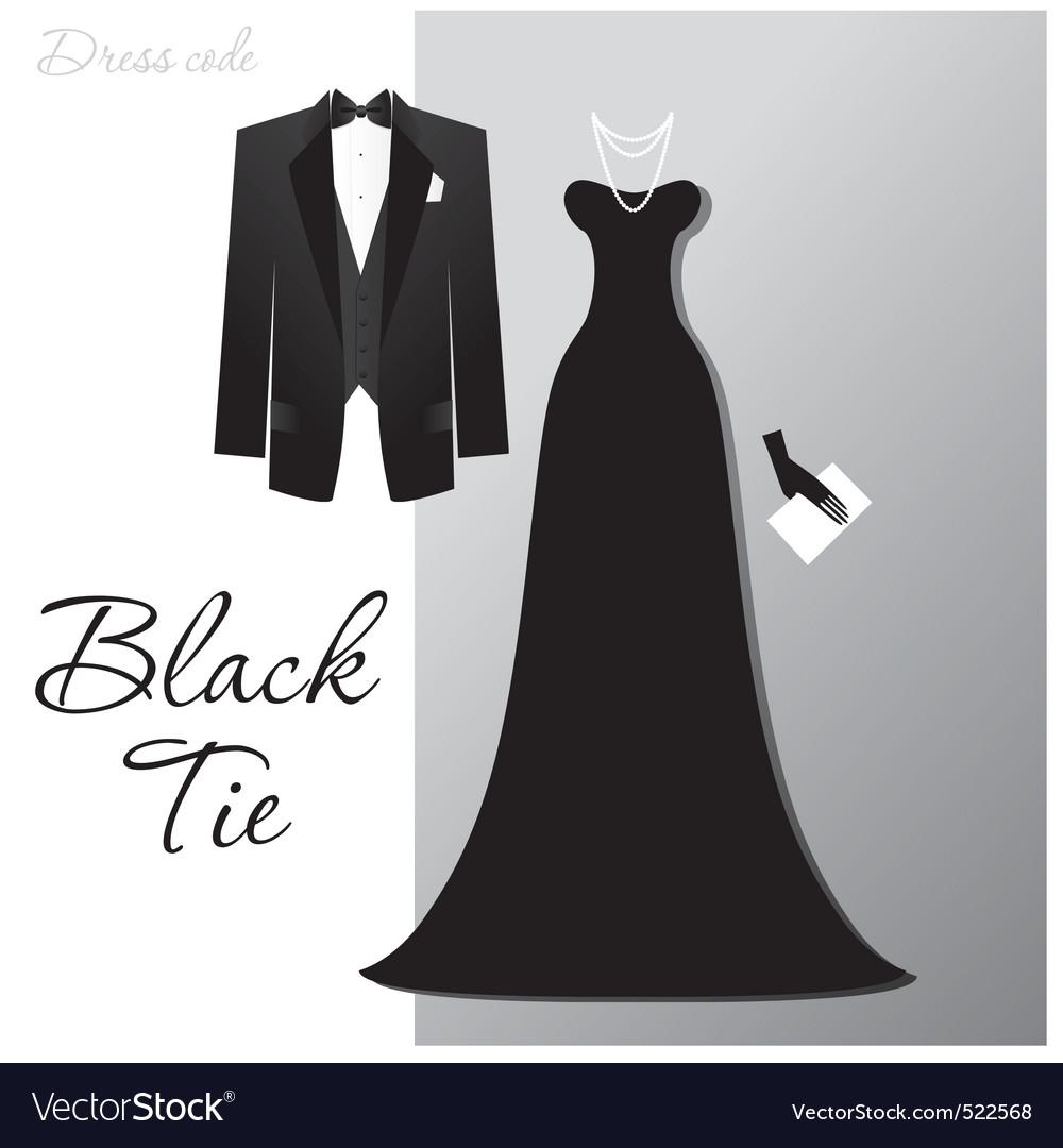 Black tie vector | Price: 1 Credit (USD $1)