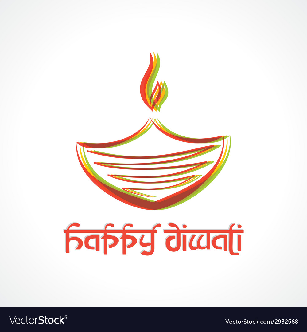 Colorful diya for diwali vector | Price: 1 Credit (USD $1)