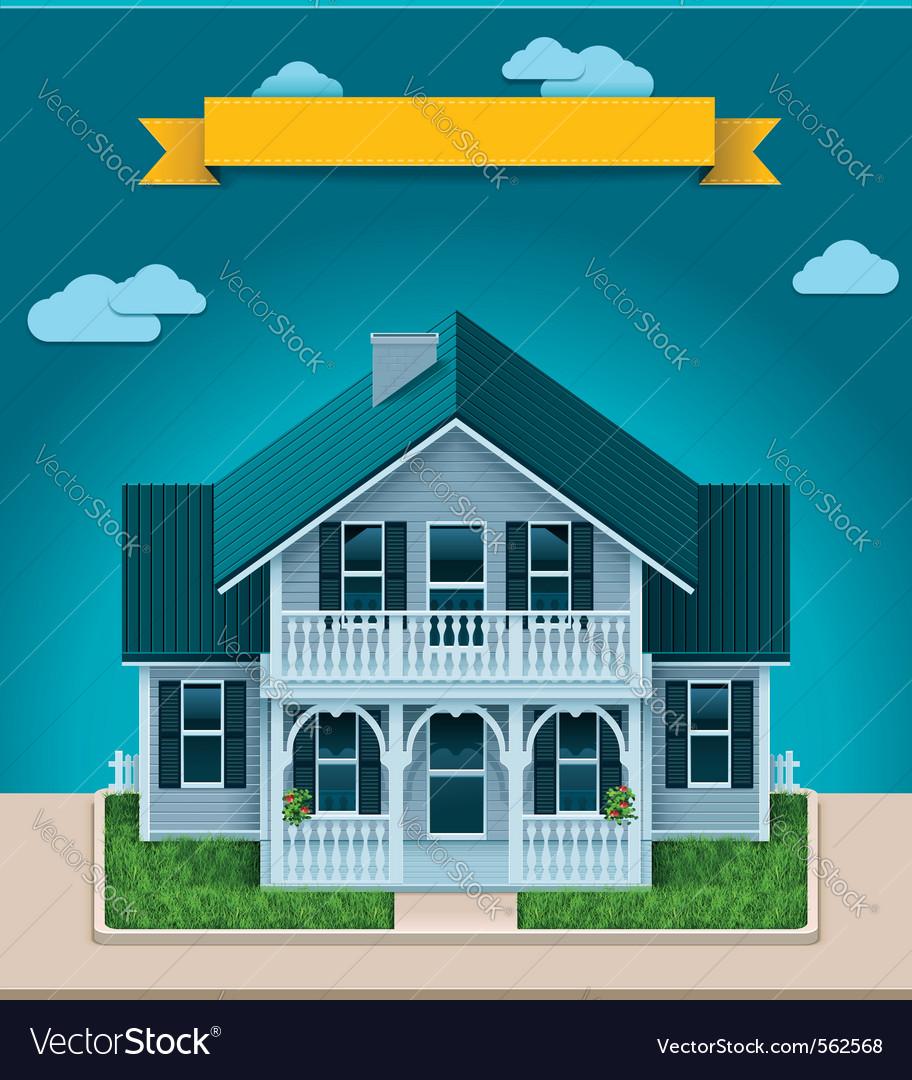 Cottage xxl icon vector | Price: 1 Credit (USD $1)