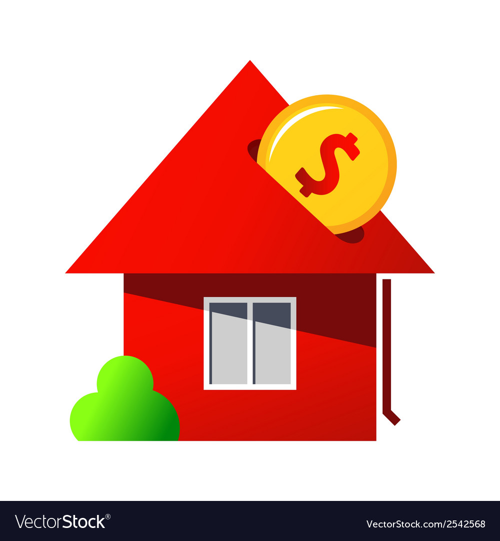 Investing in home purchase sign vector | Price: 1 Credit (USD $1)