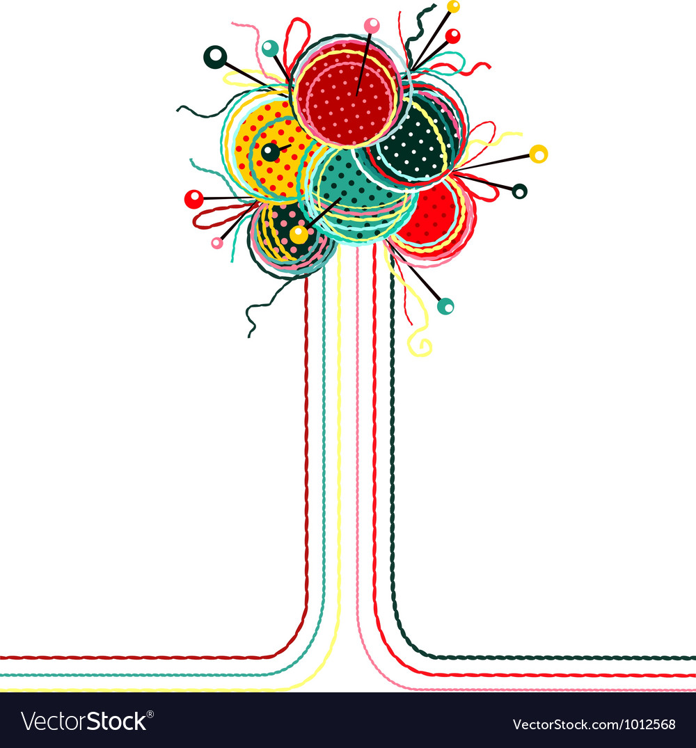 Knitting yarn balls abstract composition vector | Price: 1 Credit (USD $1)