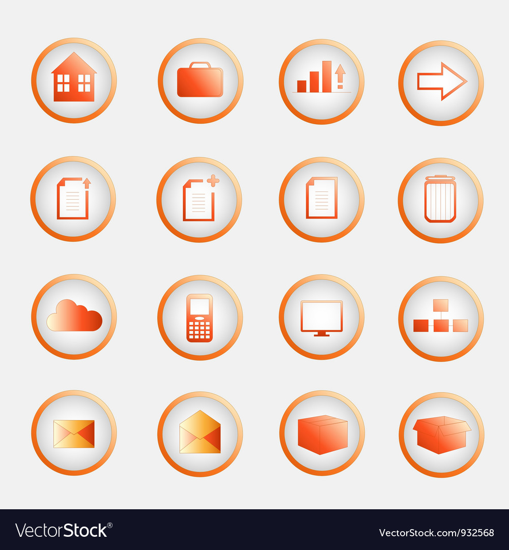 Orange buttons pack vector | Price: 1 Credit (USD $1)