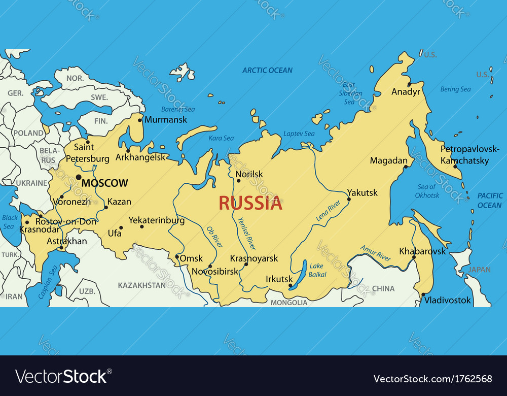 Russian federation - map vector | Price: 1 Credit (USD $1)