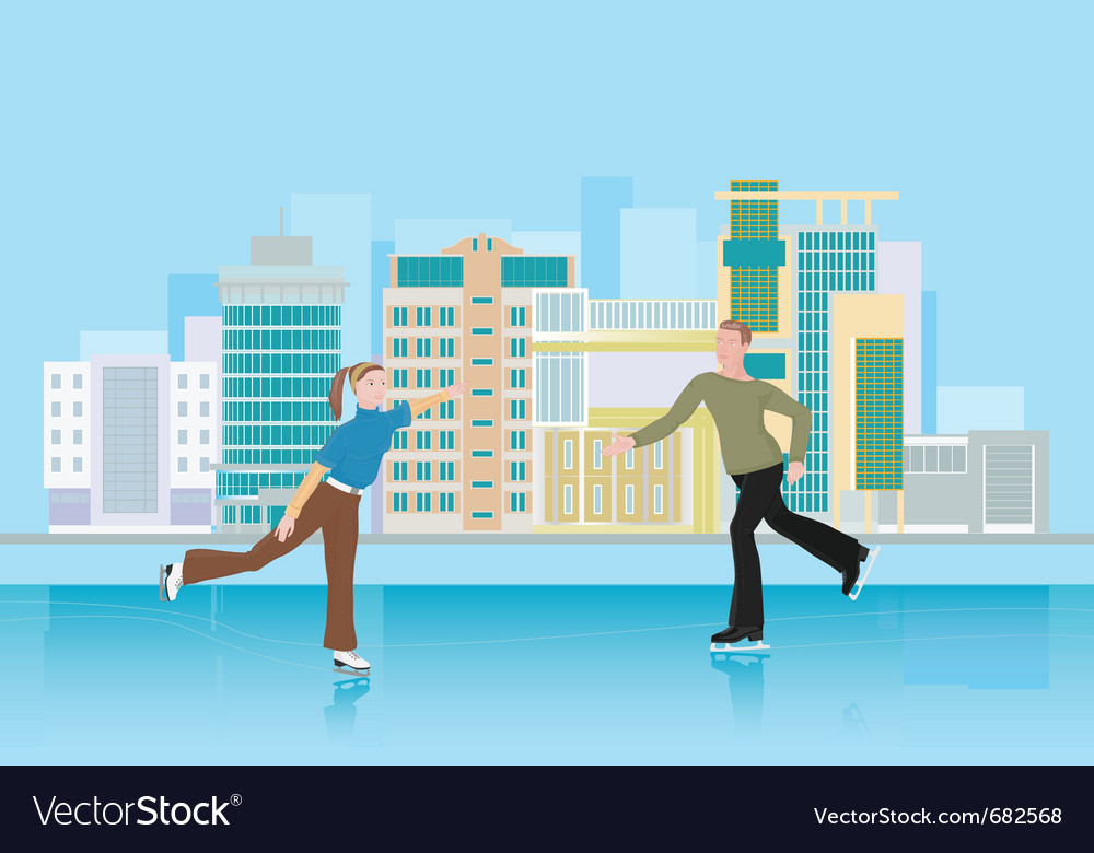 Skating city rink vector | Price: 1 Credit (USD $1)