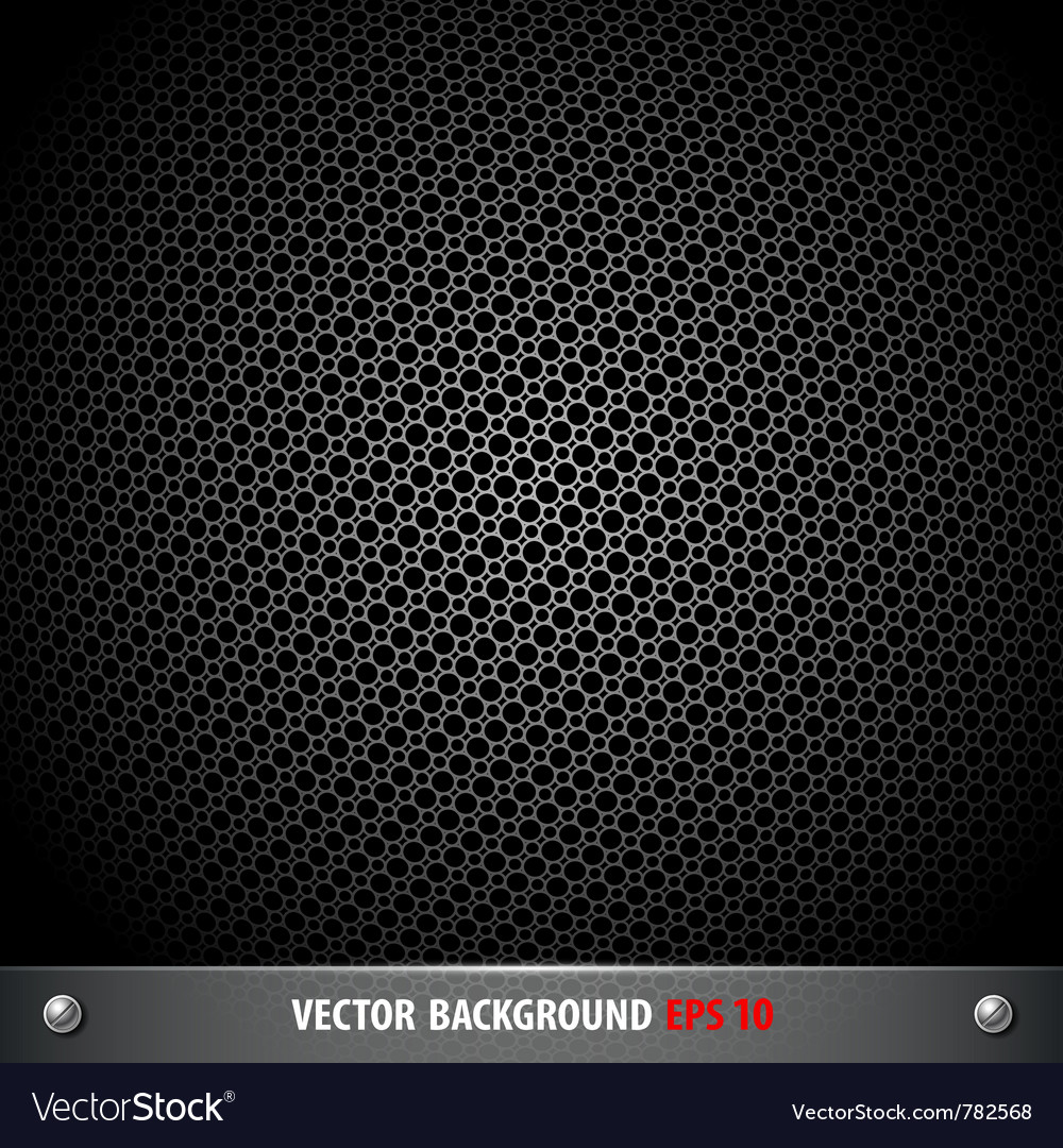 Stainless steel stencil circle on black background vector | Price: 1 Credit (USD $1)