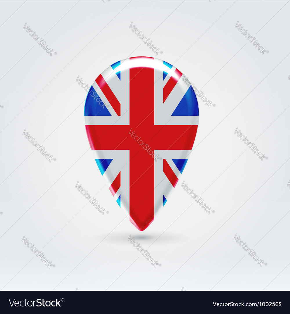 Uk icon point for map vector | Price: 1 Credit (USD $1)