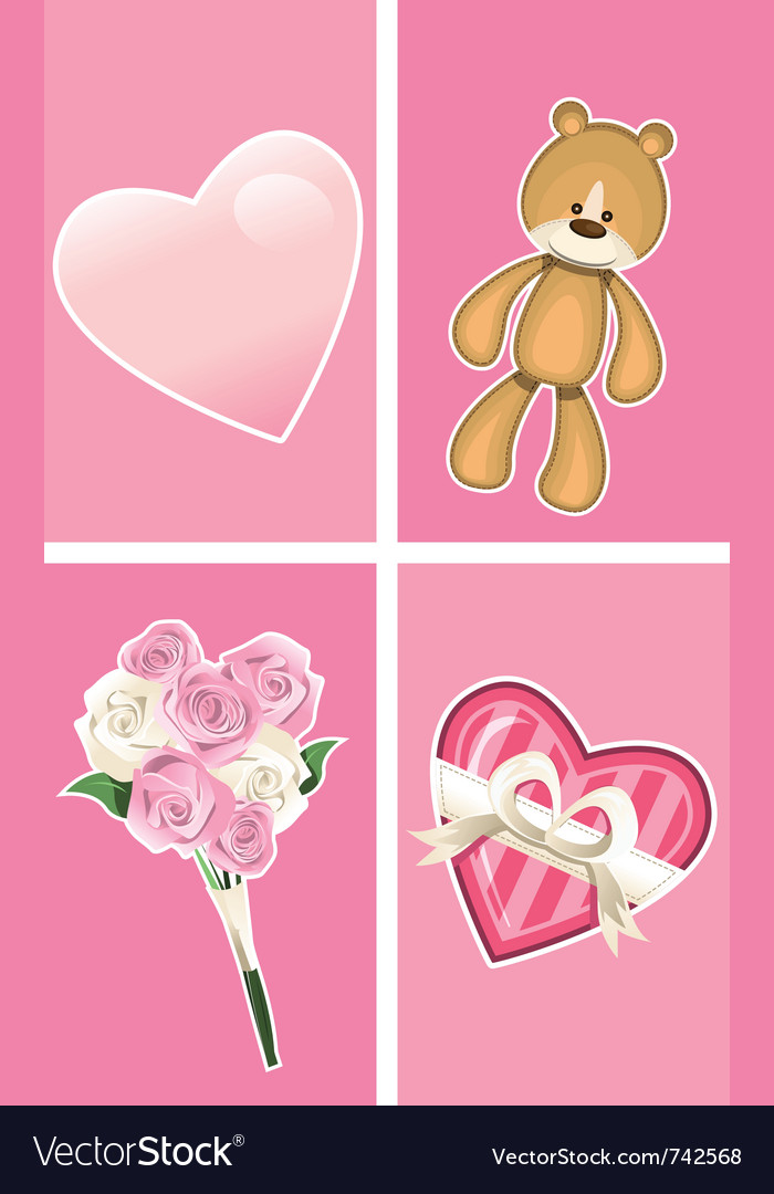 Valentine ornaments vector | Price: 1 Credit (USD $1)