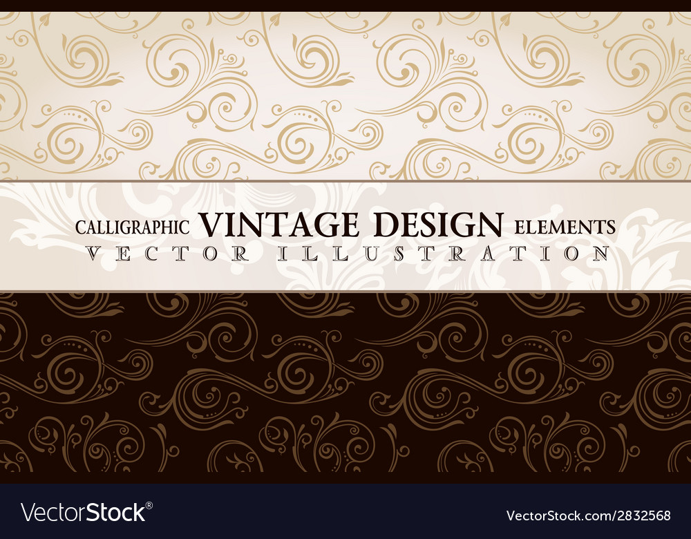 Vintage wallpaper gift wrap floral background with vector | Price: 1 Credit (USD $1)