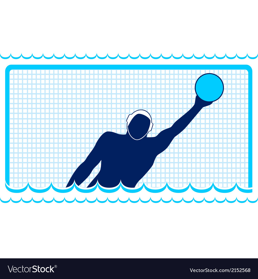 Waterpolo goalkeeper vector | Price: 1 Credit (USD $1)