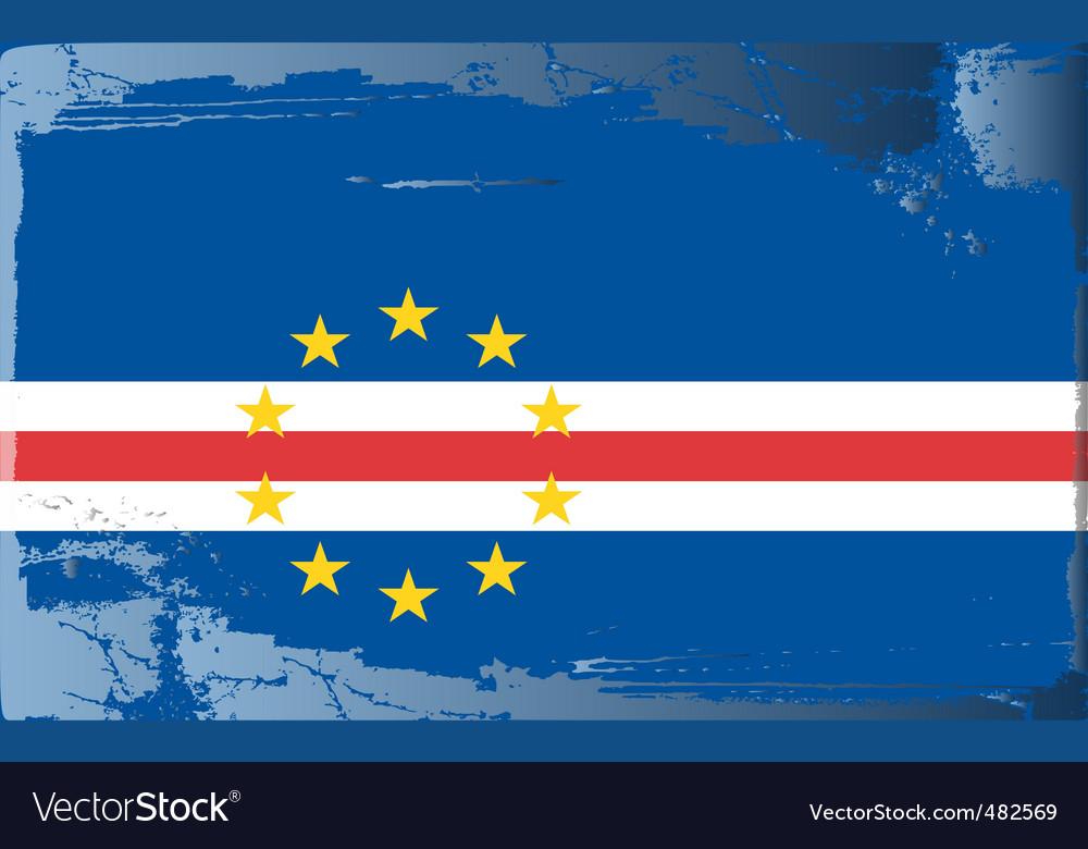 Cape verde national flag vector | Price: 1 Credit (USD $1)