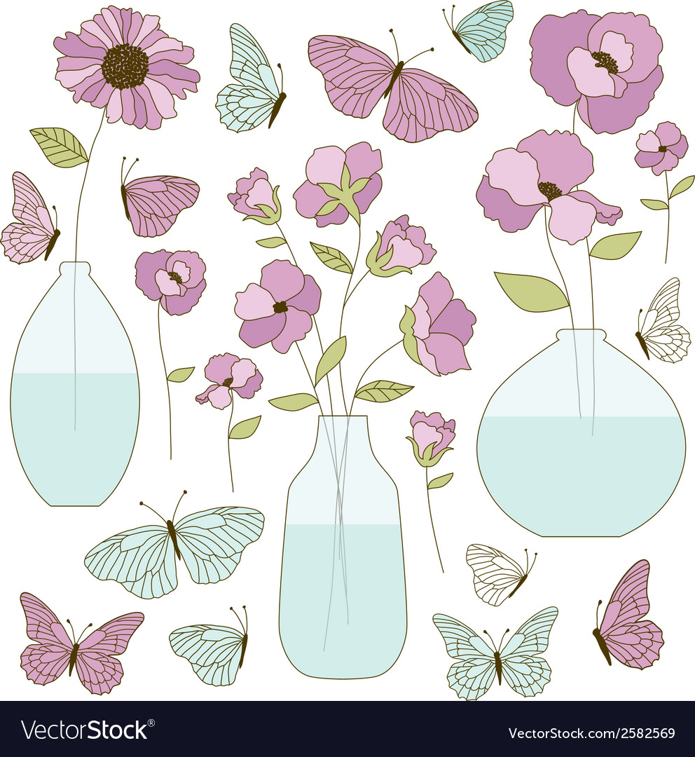 Clipart flower vase vector | Price: 1 Credit (USD $1)