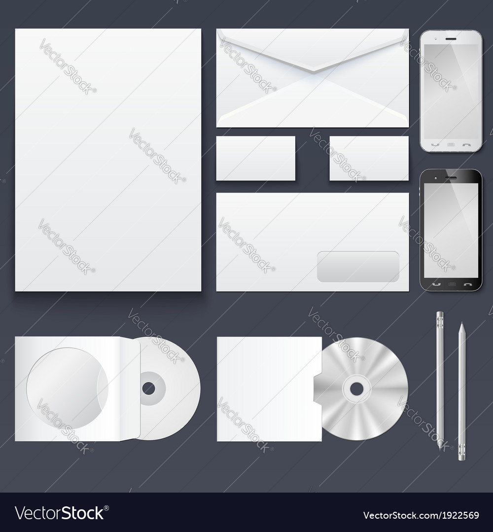 Corporate identity templates  blank business cards vector | Price: 1 Credit (USD $1)