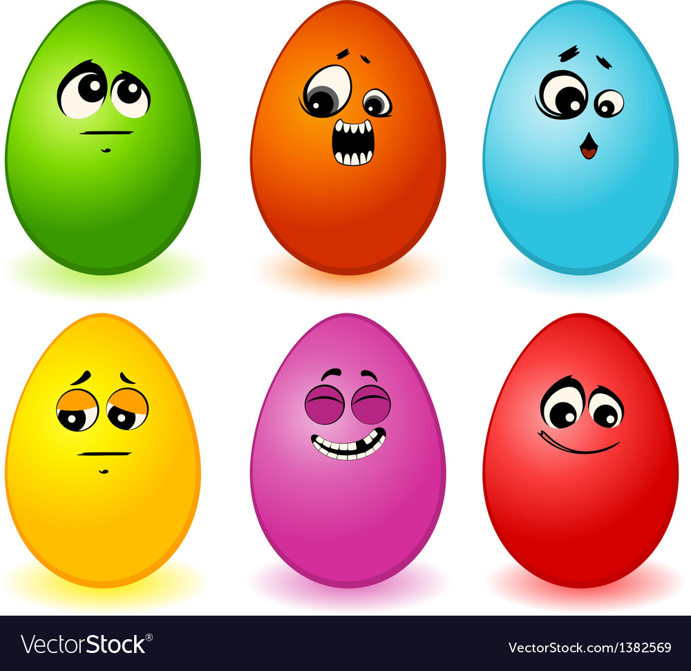 Eggs faces vector