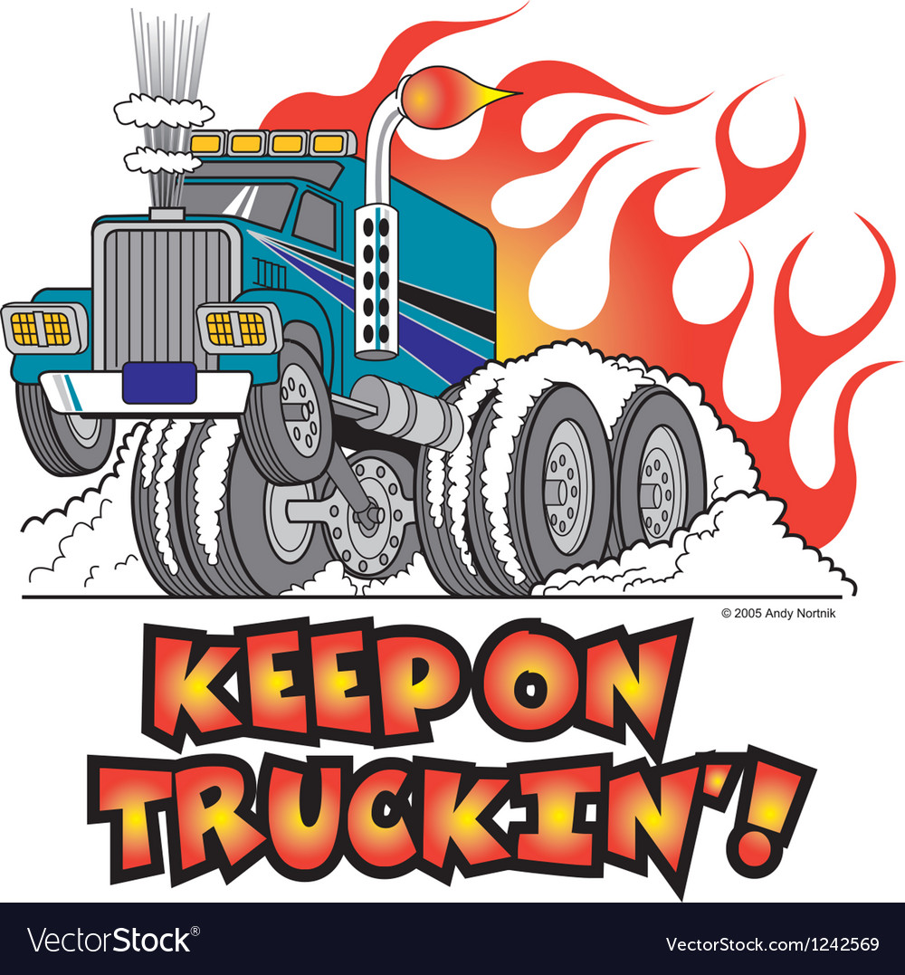 Keep on truckin vector | Price: 1 Credit (USD $1)