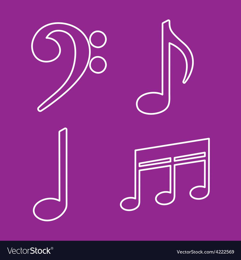 Music note design vector | Price: 1 Credit (USD $1)