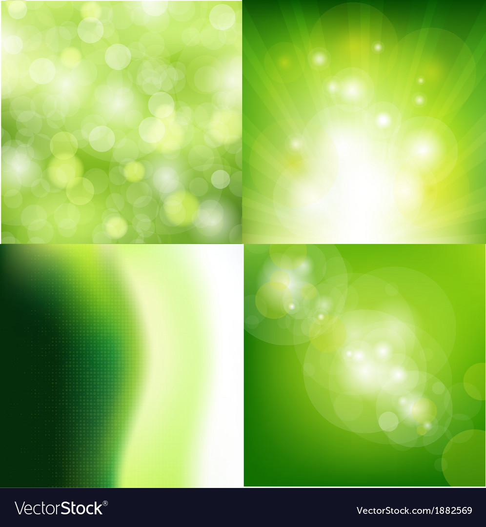 Nature backgrounds set vector | Price: 1 Credit (USD $1)