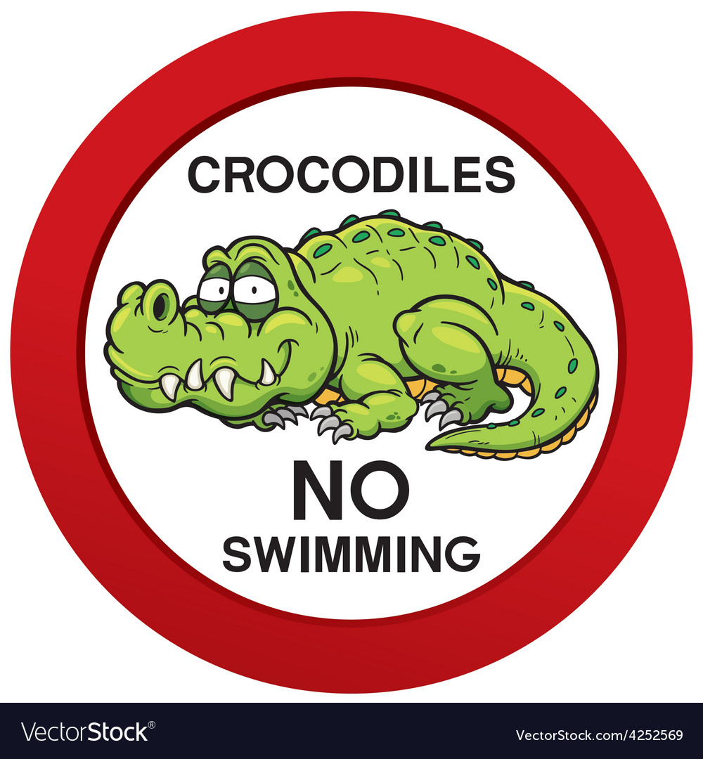 No swimming sign vector | Price: 1 Credit (USD $1)