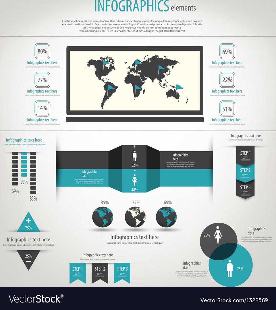 Retro infographics vector   Price: 1 Credit (USD $1)