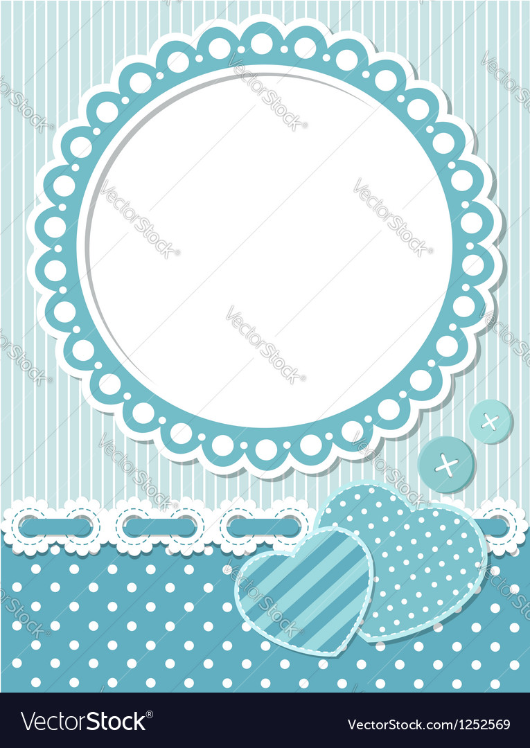 Retro scrapbook frame vector | Price:  Credit (USD $)