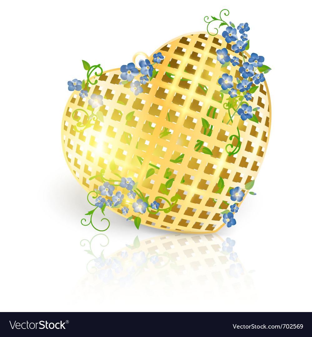 Valentines day golden vector | Price: 1 Credit (USD $1)