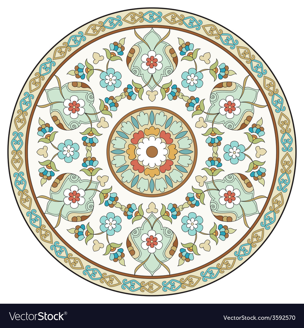 Artistic ottoman pattern series ten vector | Price: 1 Credit (USD $1)