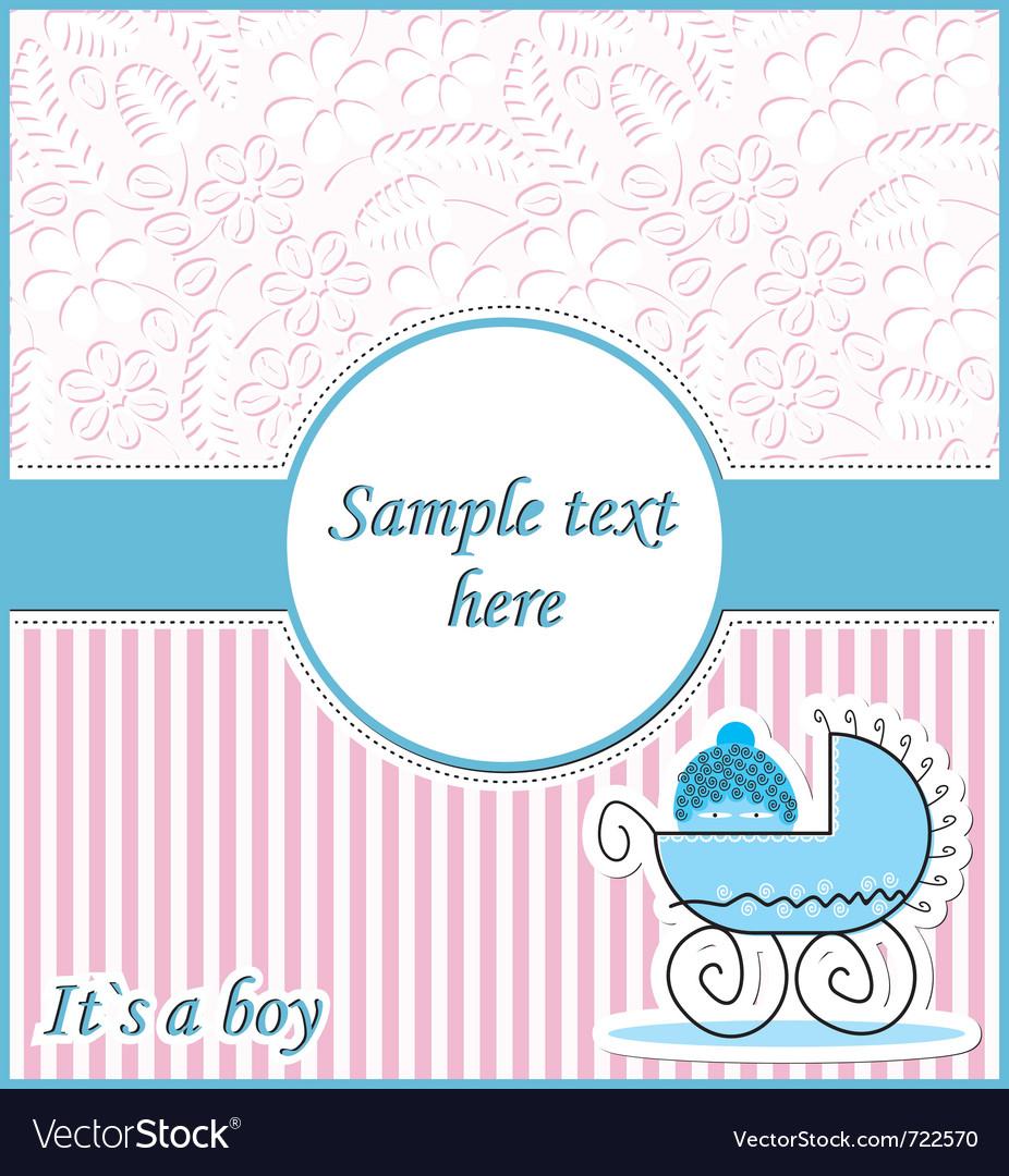 Baby in pram vector | Price: 1 Credit (USD $1)