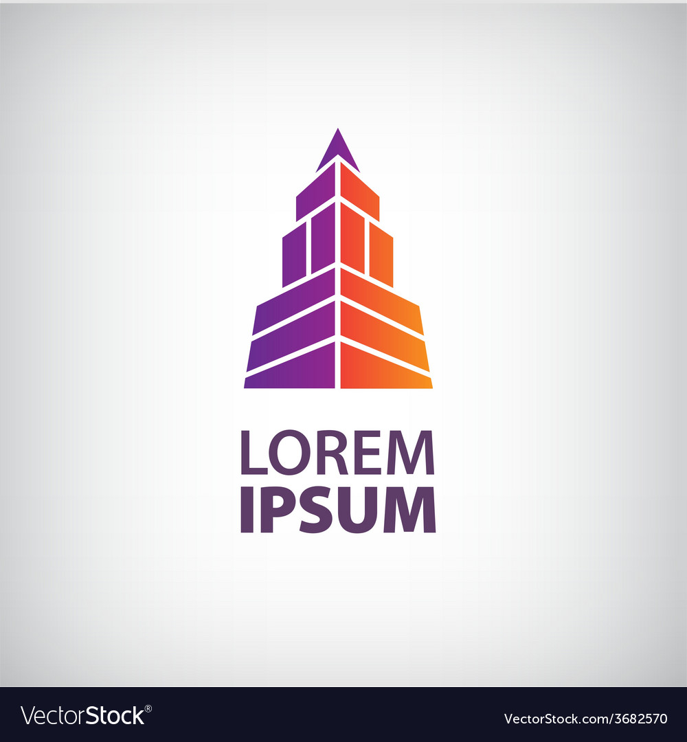 Building logo colorful construction isolated vector | Price: 1 Credit (USD $1)