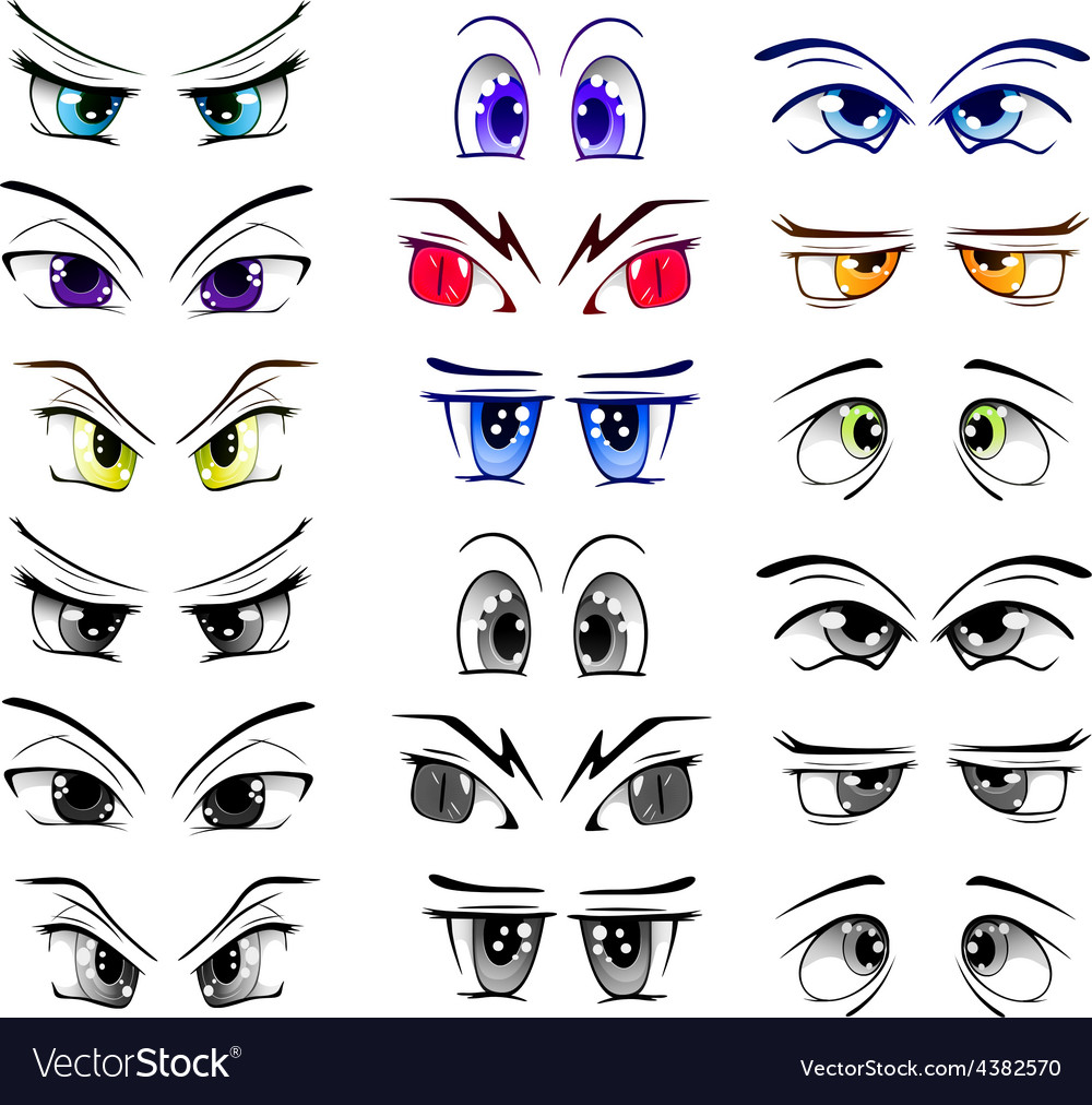 The complete set of the drawn eyes vector | Price: 1 Credit (USD $1)