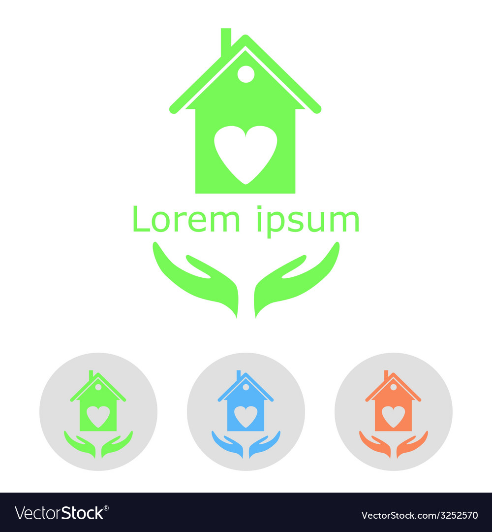 Concept of a cozy home with sample text and icons vector | Price: 1 Credit (USD $1)