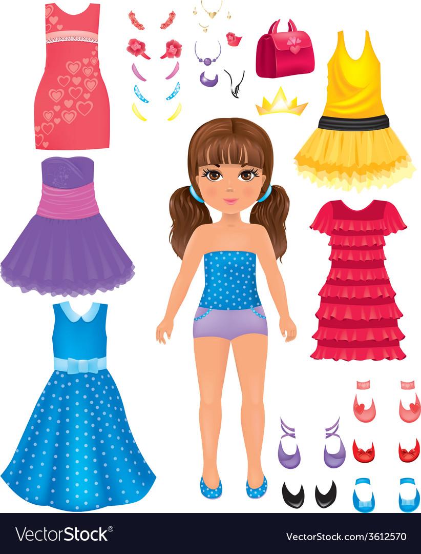 Dress girl vector | Price: 1 Credit (USD $1)
