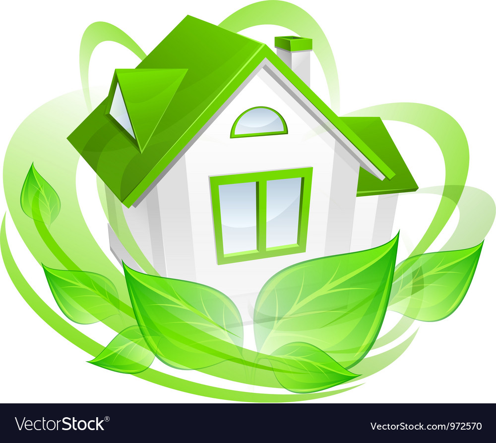 Ecology house vector | Price: 3 Credit (USD $3)
