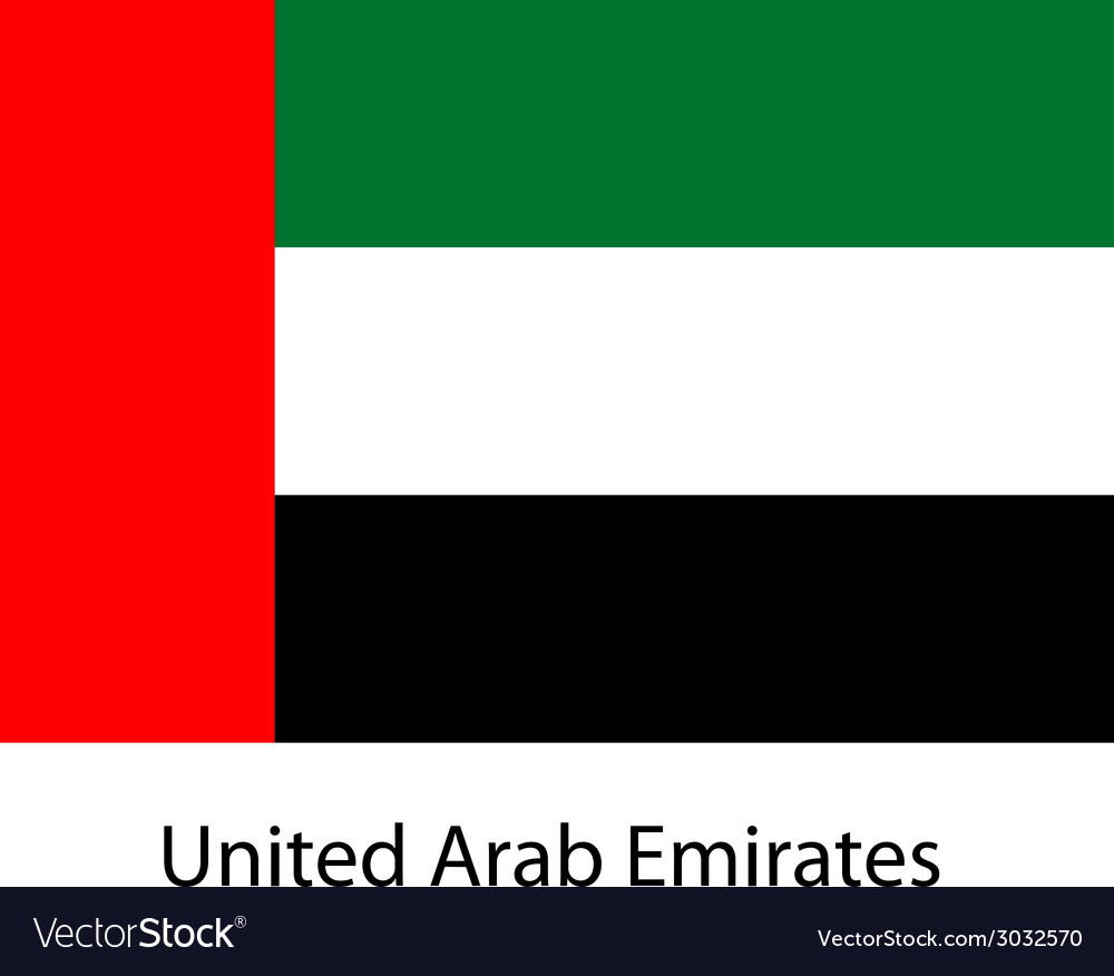 Flag of the country united arab emirates vector | Price: 1 Credit (USD $1)