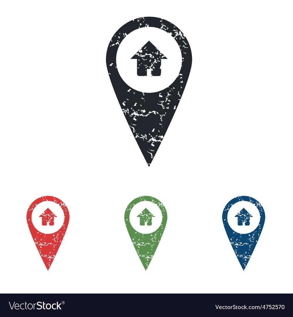House pointer grunge icon set vector | Price: 1 Credit (USD $1)