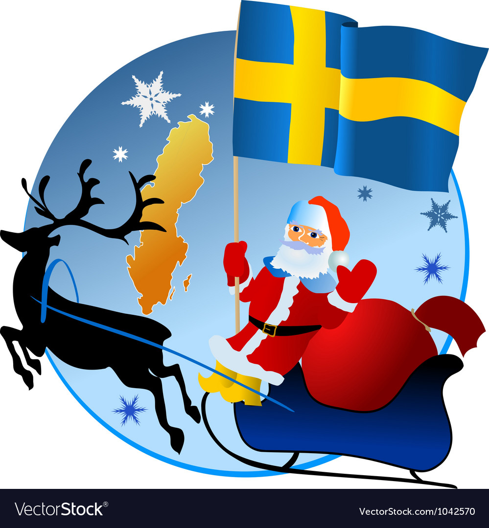 Merry christmas sweden vector | Price: 1 Credit (USD $1)