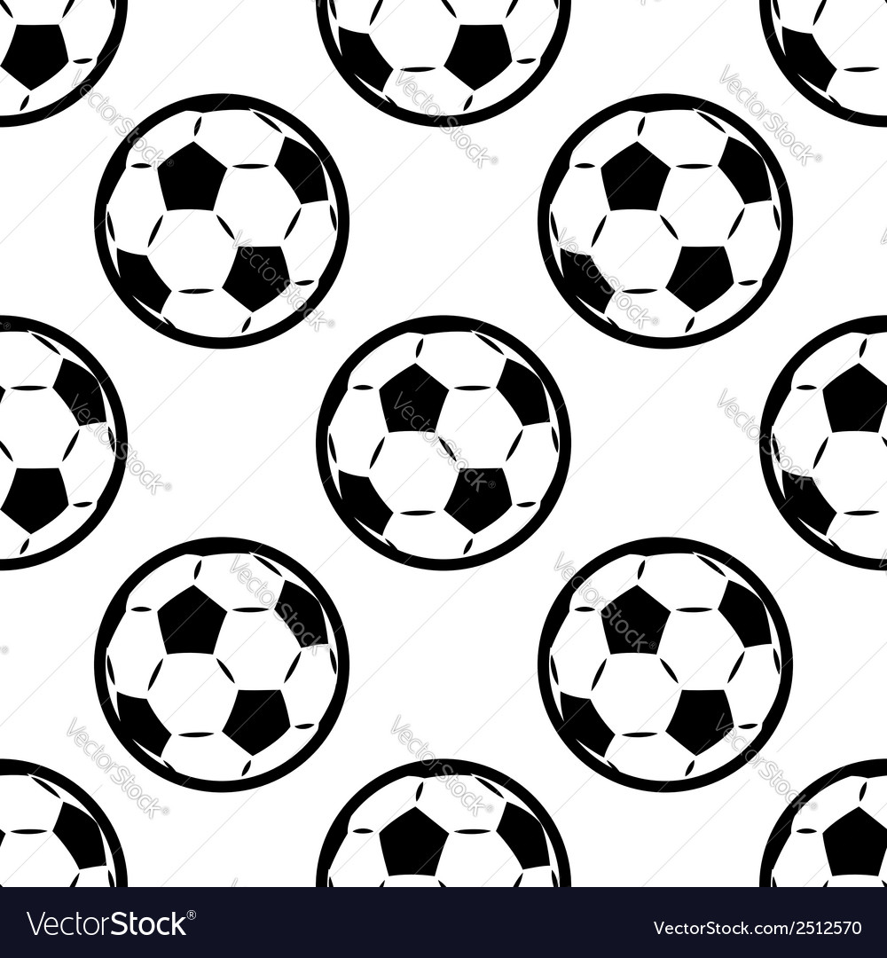 Seamless background pattern of footballs vector | Price: 1 Credit (USD $1)