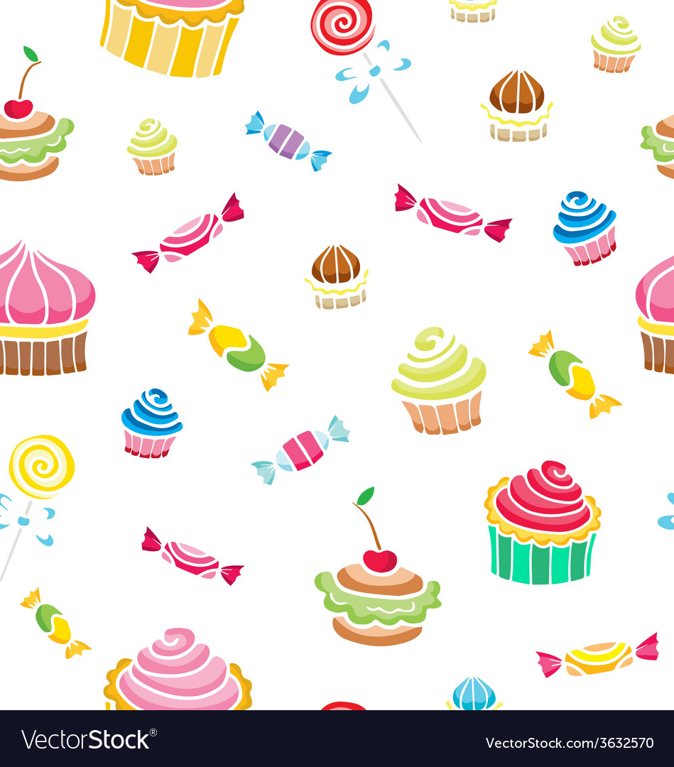 Seamless with sweets vector | Price: 1 Credit (USD $1)