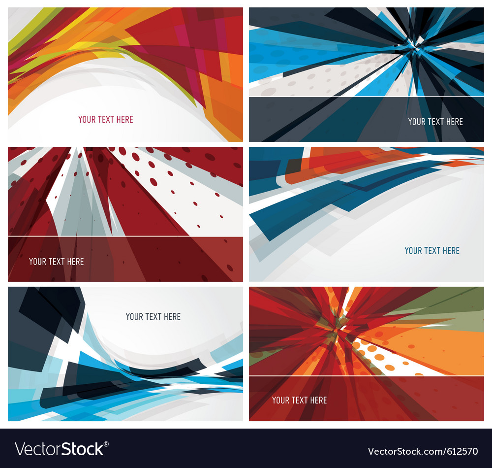 Set of modern colorful business cards vector | Price: 1 Credit (USD $1)