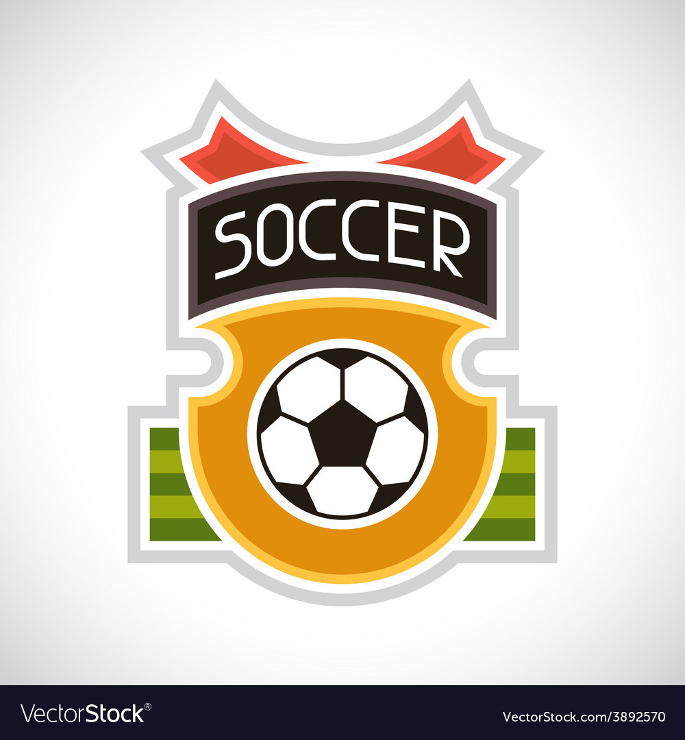 Sports soccer football badge vector | Price: 1 Credit (USD $1)